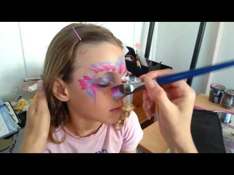 Quick Easy One Stroke Mermaid Princess By Sparkly Face Painting Symone