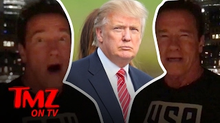 Arnold Schwarzenegger Bashes President Trump Over His Low Approval Ratings | TMZ TV