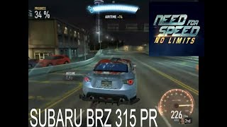 Need for Speed Payback | NEED FOR SPEED No Limits Android iOS | Gameplay | SUBARU BRZ 315 PR