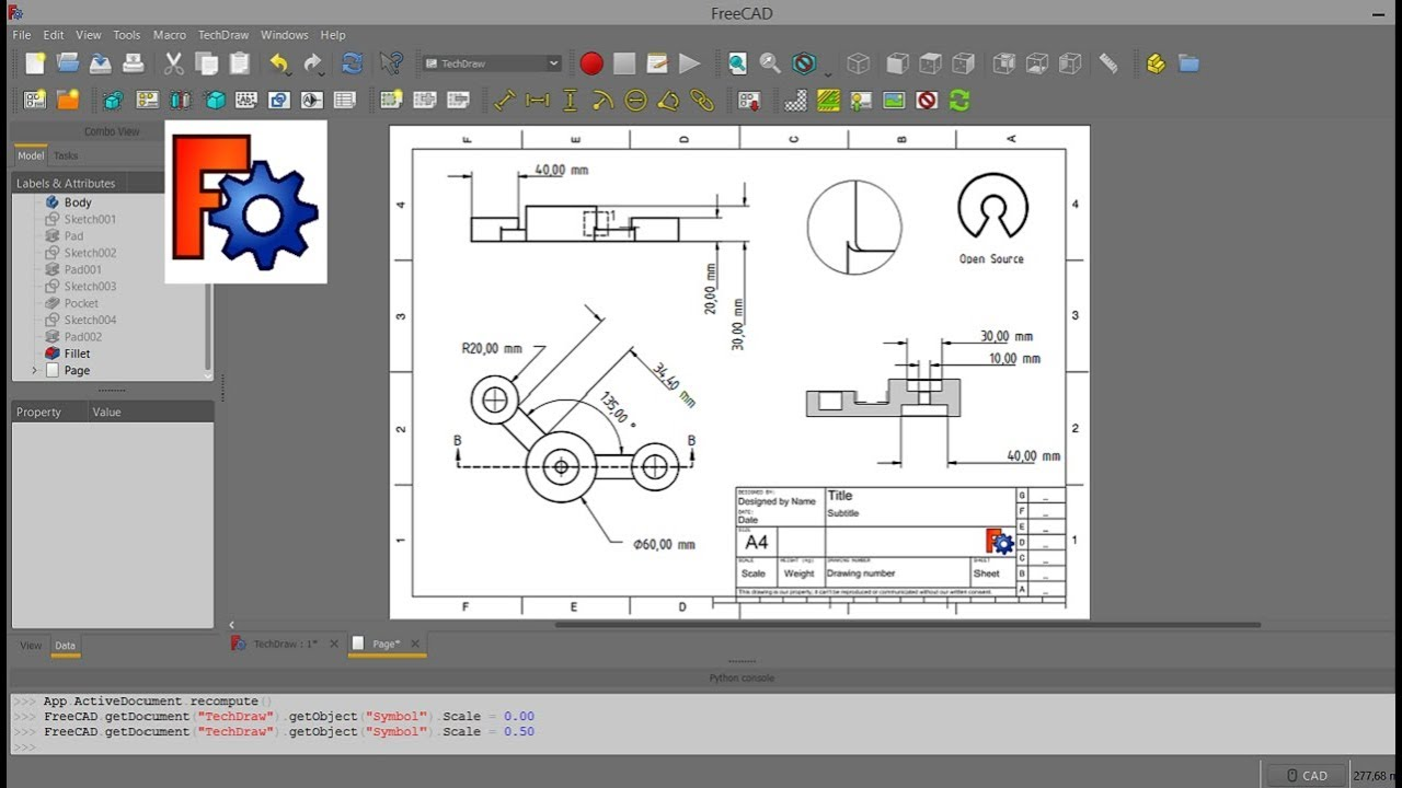 FreeCAD TechDraw Workbench and 2D Dimensions