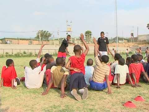 Football brings hope to poor South African kids