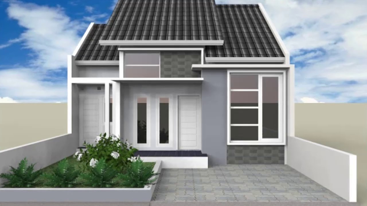 Desain Rumah Minimalis Warna Abu Abu - YouTube
