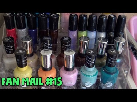 SNAIL MAIL SATURDAY #15 Opening Fan Mail || My Nail Polish Collection