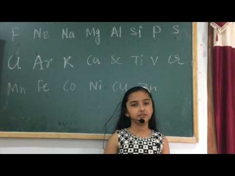 Easy way to learn periodic table by a little girl
