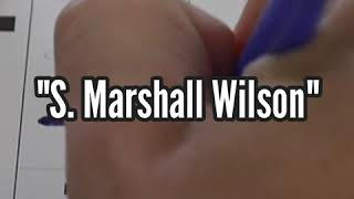 """Write-In"" - How To - S. Marshall Wilson, Write-In Independent Candidate for WV Governor"