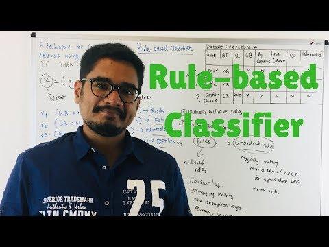 Machine Learning | Rule-based Classifier