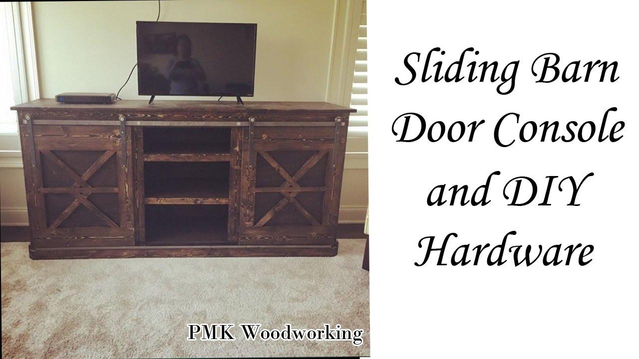 Diy Sliding Barn Door Console And Diy Barn Door Hardware