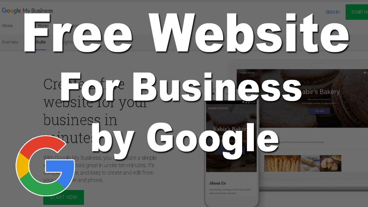 google my business offer free website builder for indian youtube