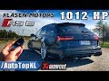 1012HP AUDI RS6 Klasen 330km/h REVIEW POV Test Drive on AUTOBAHN by AutoTopNL