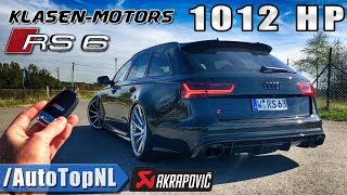 1012HP AUDI RS6 Klasen 330km/h REVIEW POV Test Drive on AUTOBAHN by AutoTopNL