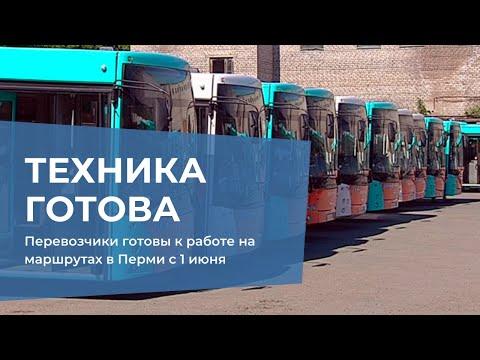 Перевозчики готовы к работе на маршрутах в Перми с 1 июня