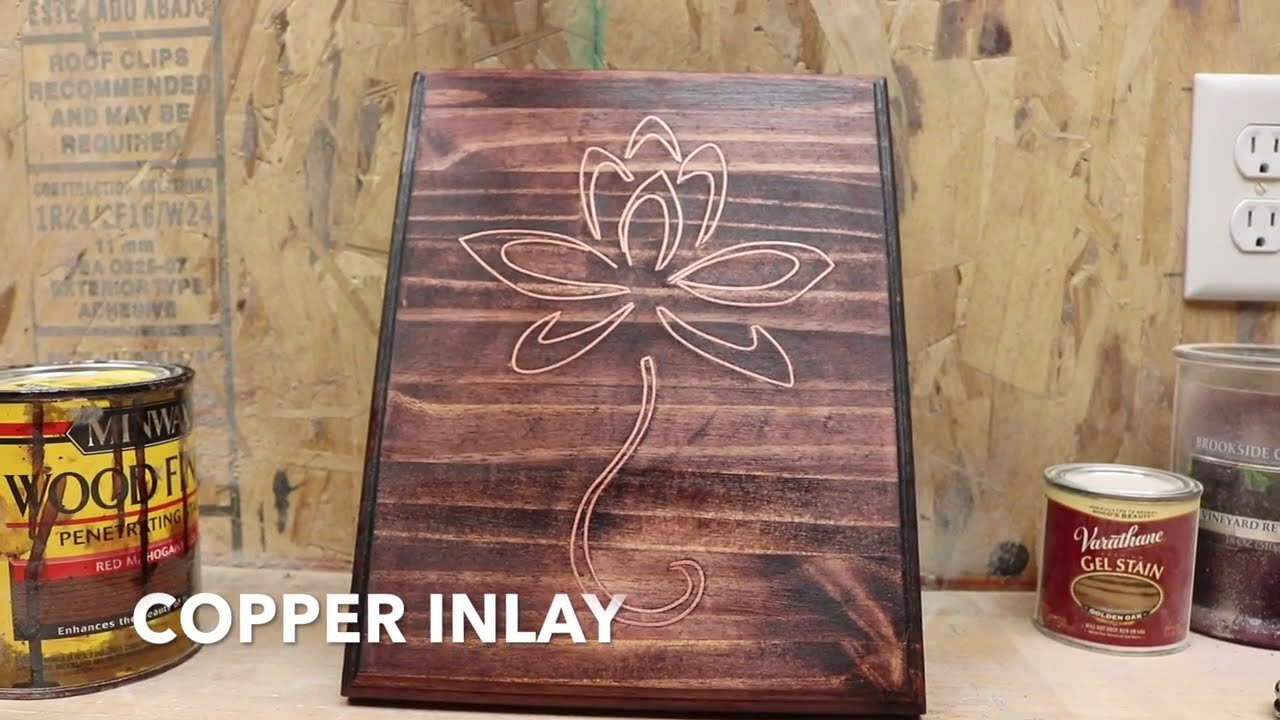 COPPER INLAY WOODWORKING - YouTube