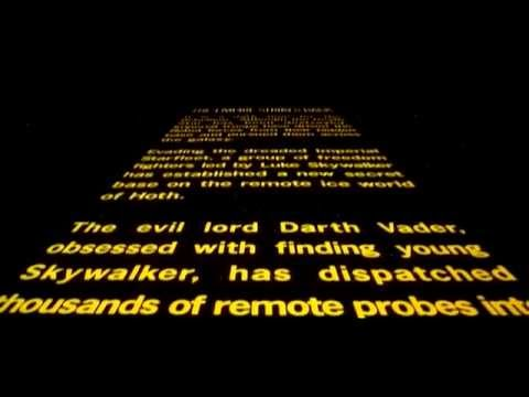 The Empire Strikes Back - Original Theatrical Crawl