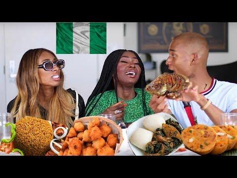 NIGERIAN FOOD MUKBANG | AMERICANS TRY THE BEST JOLLOF RICE | Shalom Blac