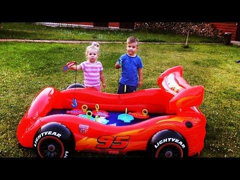 ✿ Челлендж РЫБАЛКА ДЛЯ ДЕТЕЙ Молния МАКВИН Бассейн Lets Go Fishing Game Fun Activity Kids New toys