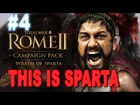 This is Sparta - Total War Rome 2 Wrath of Sparta Campaign #4