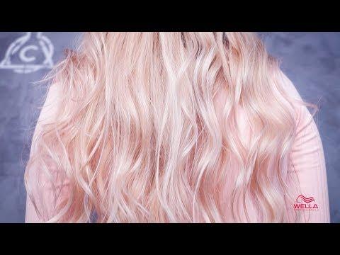 Нежно-розовый блонд