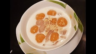 Chè KHOAI LANG DẺO với trân châu Vietnamese Dessert sweet potato with coconut - Tram Nguyen Germany