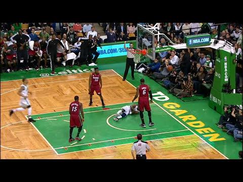 LeBron James' MONSTER alley-oop slam vs Celtics!