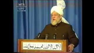 Friday Sermon 11 October 1996