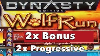 WOLF RUN DYNASTY - 2x Bonus 2x Progressive - IGT Slot Machine Pokie Spielothek Pokies
