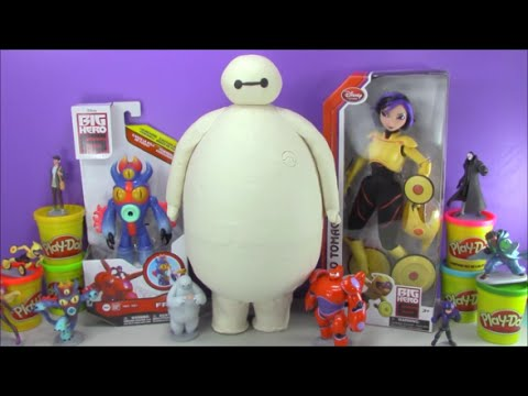giant-baymax-play-doh-surprise-egg-big-hero-6-toys-and-more!