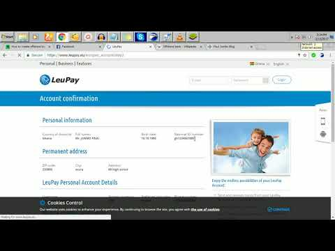 how to make free offshore bank account 4 paypal verification