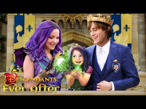 descendants-3-ever-after:-mal-and-ben-have-a-daughter!-the-princess-of-auradon-💜💚-|-alice-edit!