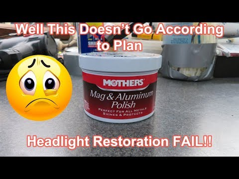 Headlight Restoration using Mothers Mag Polish - Pass or Fail