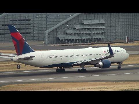 Delta Air Lines 767-300ER [N188DN] Takeoff Portland Airport (PDX)