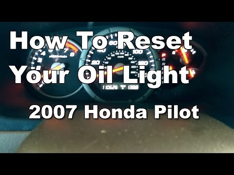 2007 Honda Pilot Oil Life Reset