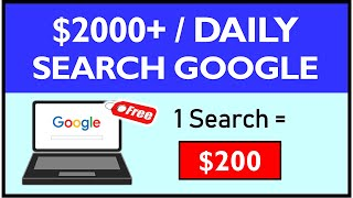 ($2,000+/Daily) Get Paid To Search Google (FREE) Make Money Online   Branson Tay screenshot 1
