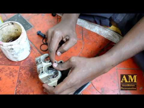 Motorcycle Disc Brake Overhaul | TVS Apache RTR | Disc Brake Oil Change / Renew | DIY | BIKE