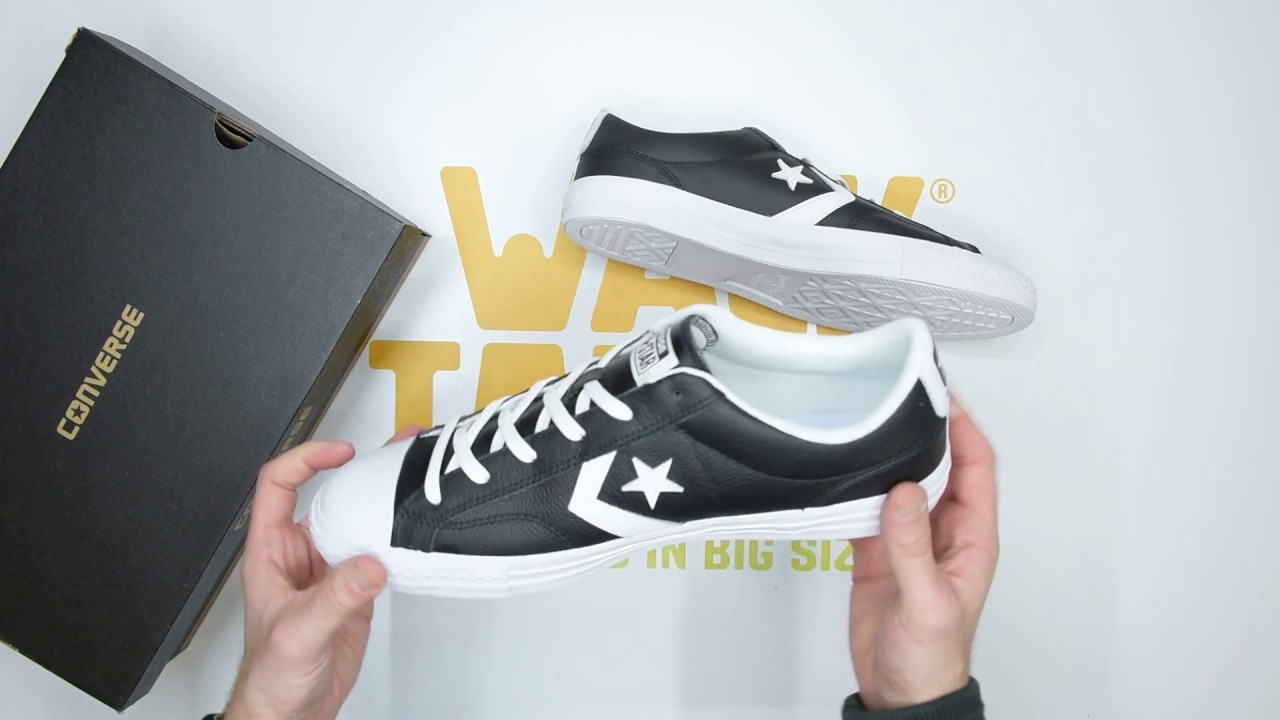 4d7636b8743c95 Converse Star Player Ox - Black White - Unboxing