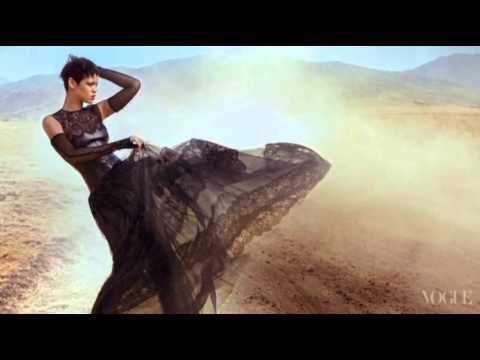 Behind the Scenes on Rihanna's Vogue Photo Shoot