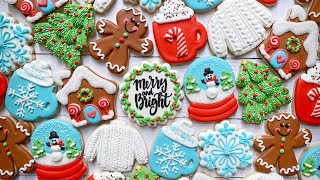 CLASSIC CHRISTMAS | Satisfying Cookie Decorating | The Graceful Baker