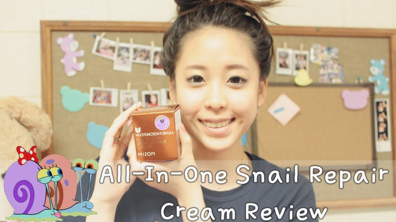 Mizon All In One Snail Repair Cream Review Peach And Lily Youtube Blacksnail 75ml