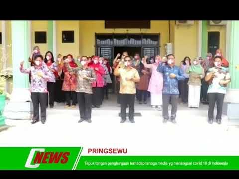 Tepuk tangan penghargaan terhadap tenaga medis yg menangani covid 19 di Indonesia