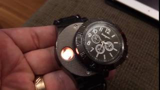 Watch + Electronic Lighter