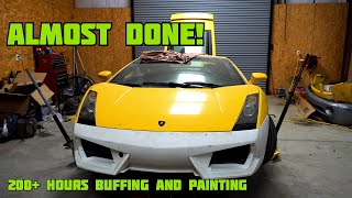 Rebuilding wrecked Lamborghini Gallardo PART 4 bought from copart