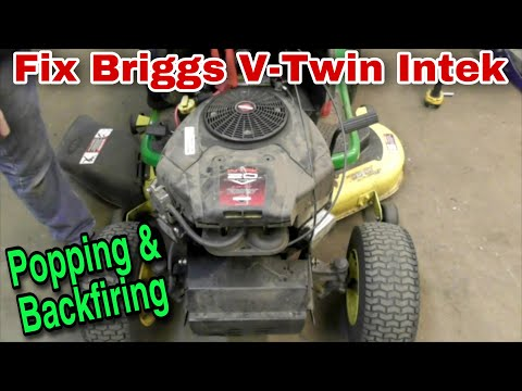 How To Fix A Briggs V-Twin Intek Engine That Is Popping and Backfiring (Camshaft Replacement)