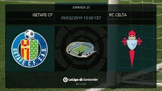 Calentamiento Getafe CF vs RC Celta