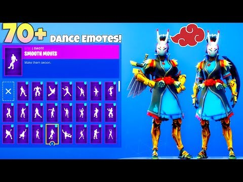 NEW! NARA Skin! With 70+ Dance Emotes Showcase (Naruto SKIN?) Fortnite Battle Royale
