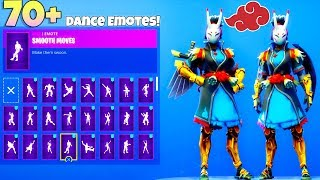 NEW! NARA Skin! With 70+ Dance Emotes Showcase (Naruto SKIN?) Fortnite Battle Royale