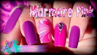 Nail Art Mármore Pink - Nill Art