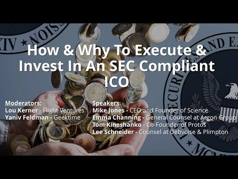 How & Why To Execute & Invest In An SEC Compliant ICO