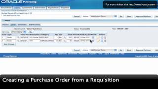 Oracle Training - Create Purchase Order from Requisition in Oracle E-Business Suite R12 (1080p - HD)