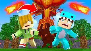 DRINK MILO SURVIVE DANGEROUS NATURAL DISASTERS Le volcan explose 😱 MINECRAFT ROLEPLAY - ROBLOX