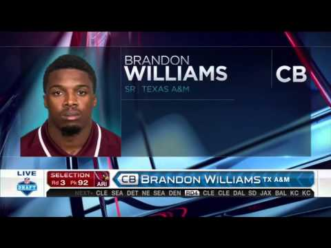 2016 NFL Draft Rd 3 Pk 92 | Arizona Cardinals Select CB Brandon Williams