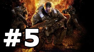 Gears Of War Walkthrough Part 5 - No Commentary Playthrough (Xbox 360)